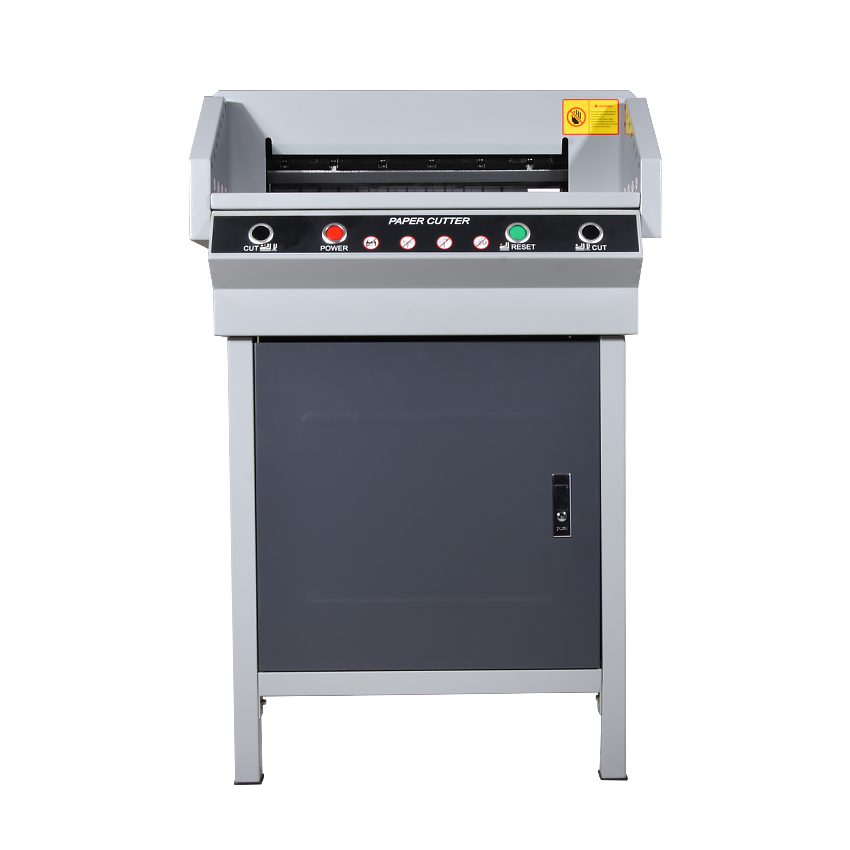 Elektrik kağıt Giyotin Makinesi, 450 kağıt kesme makinesi, kağıt kesme makinesi Makinesi Ile Yüksek Kaliteli Kesme Genişliği 450mm 220 v