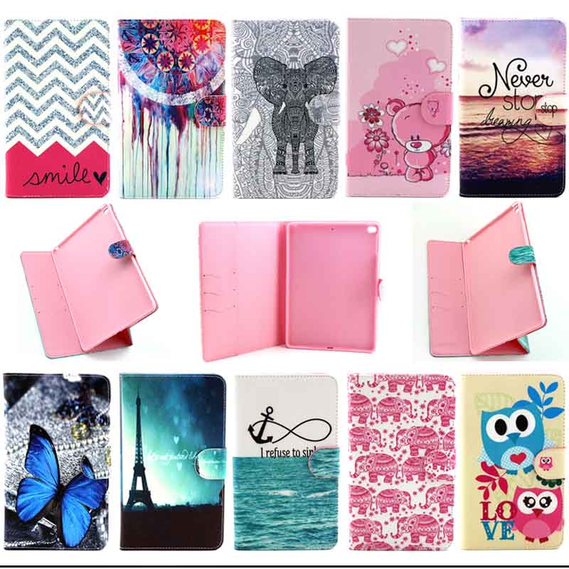 For Apple iPad Air 2 case Plaid Design Folio PU Leather e-book cases for iPad 6 Cover Tablet Accessories S4D69D