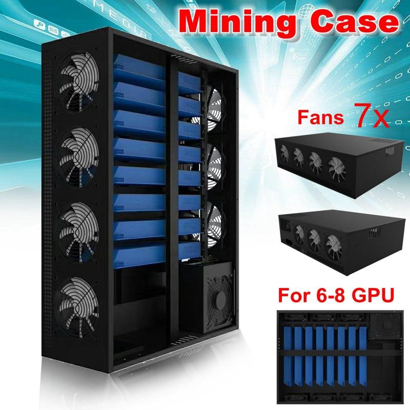 En plein Air Minière Cadre Plate-Forme Cas Graphics Pour 6/8GPU Aluminium Empilable Mining Pour L'ethereum BTC