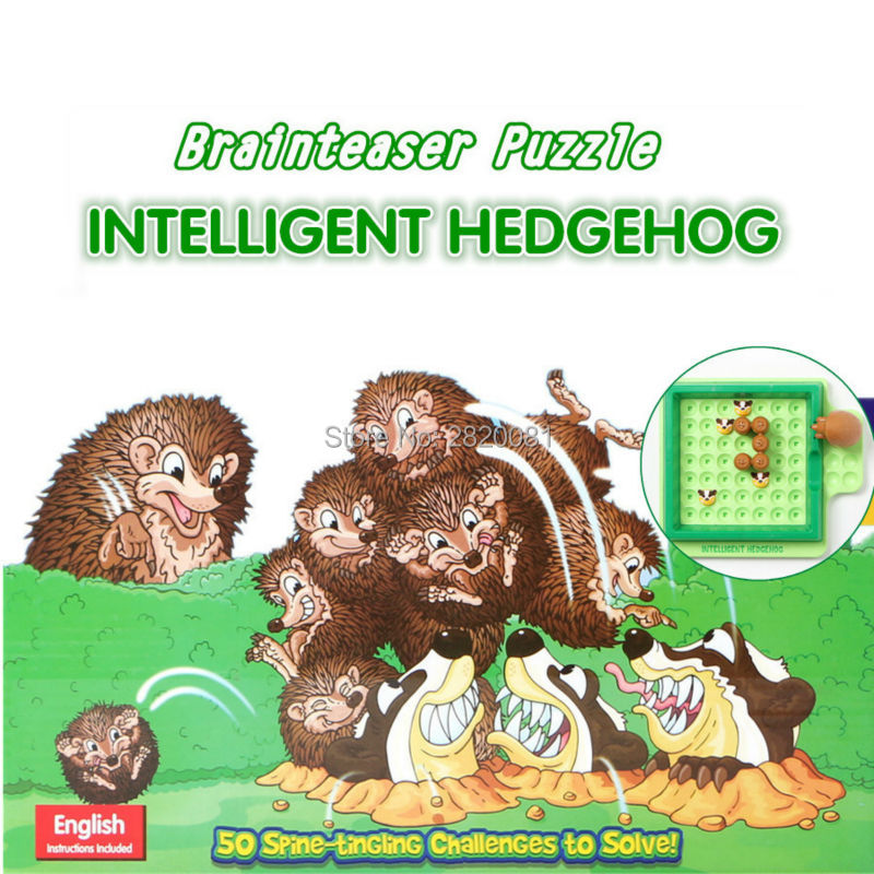Novelty toy puzzle game intelligent hedgehog Escape from Badgers toy set,brain Teaser In ...