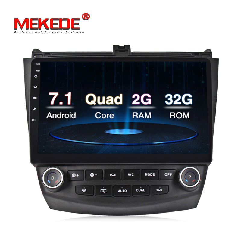 2G+32G android 7.1 car dvd player For Honda Accord 7 2003 2004 2005 2006 with GPS car radio stereo USB BT support wifi BT SWC