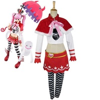 High Q Unisex Anime Cos One piece Costumes Ghost Princess Perona Two Years Ago Cosplay Costume Sets