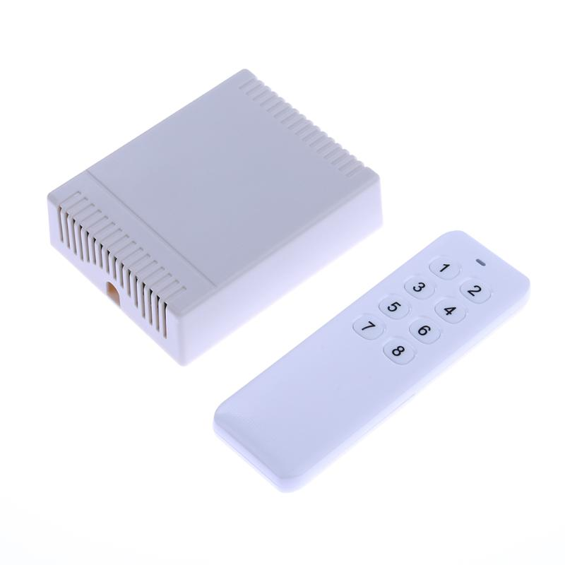 12V 8 Channel Wireless Switch  8 Key RF Wireless Remote Dimmer Controller  For RGB LED Light Strip DC12-24V dmx512 digital display 24ch dmx address controller dc5v 24v each ch max 3a 8 groups rgb controller