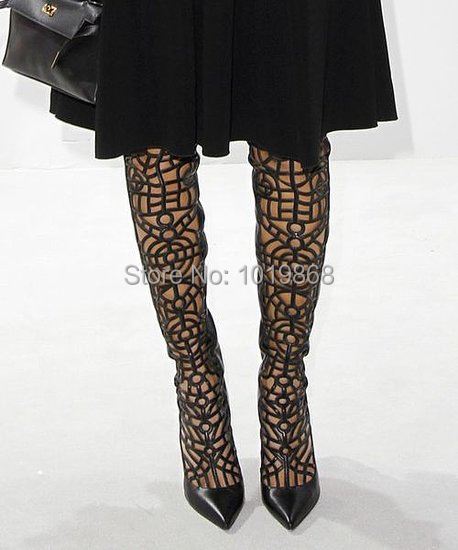 Brand Designer Women Over Knee Boots Azteca Boots Gladiator Tight High Heel  Boots Red Real Picture-in Over-the-Knee Boots from Shoes on Aliexpress.com  ... e663dd4dc73e