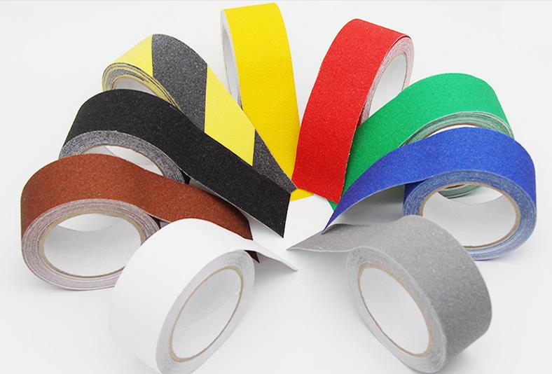 5CM*5M Stairs Floor Bathroom Grind Arenaceous Antiskid PVC Rough Side Warning Safety Self-adhesive Non-slip Tape 5cm 5m frosted surface anti slip tape abrasive for stairs tread step safety tape non skid safety tapes
