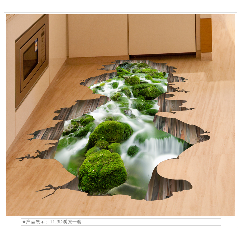 3D wall stickers font b floor b font stickers creative living room bedroom font b floor