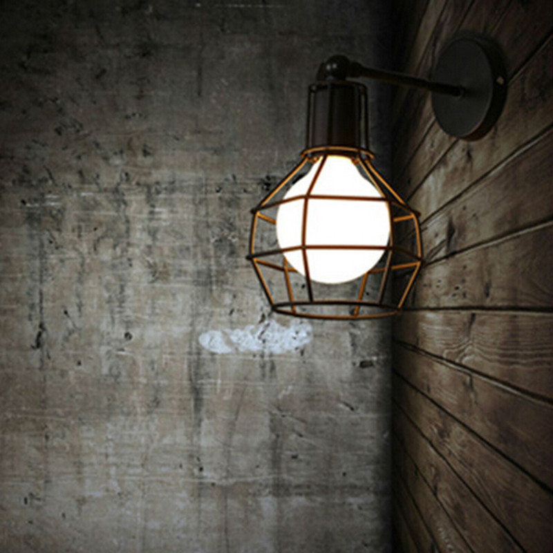 Vintage Wall Lamp Industrial wall light LED Sconce American Retro wall lamp Metal cover light Home decoration lighting fixture 6