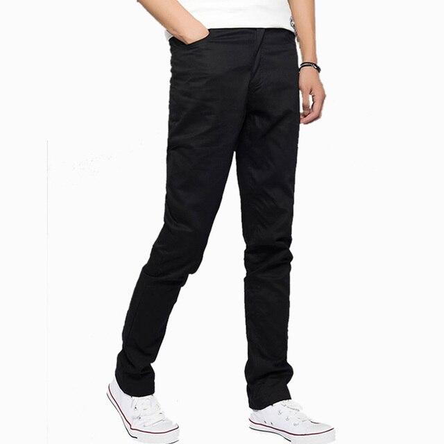 Мужчины повседневные брюки 2016 Новые брюки моды подходят мужские большой размер тренировочные брюки Мужчины Чистого хлопка брюки Прямые брюки Бесплатная Доставка доставка