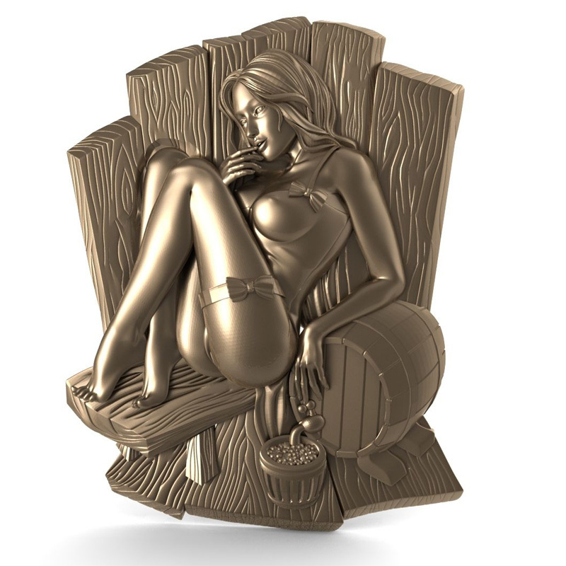 Sitting naked women 3d model STL relief for cnc STL format Naked woman 3d model for cnc stl relief artcam vectric aspire 3d model icona b mater fedorovskaya relief for cnc in stl file format 142mb
