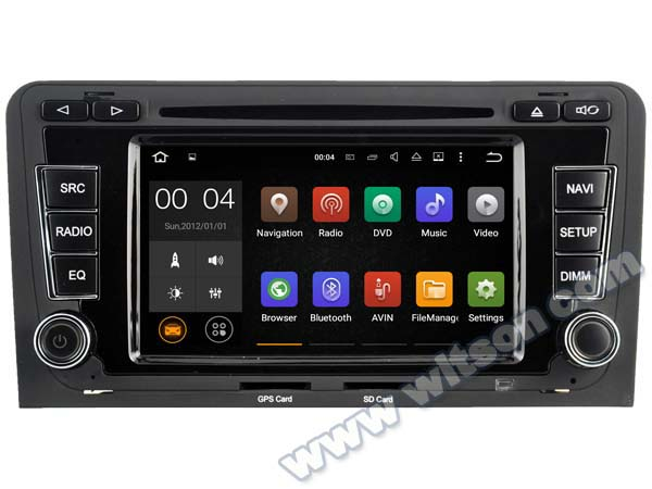 6.2 Quad Core Android 5.1 OS Car DVD player GPS wifi 3G dvr for Audi A3 2003-2012 & Audi S3 2003-2012 & Audi RS3 2003-2012