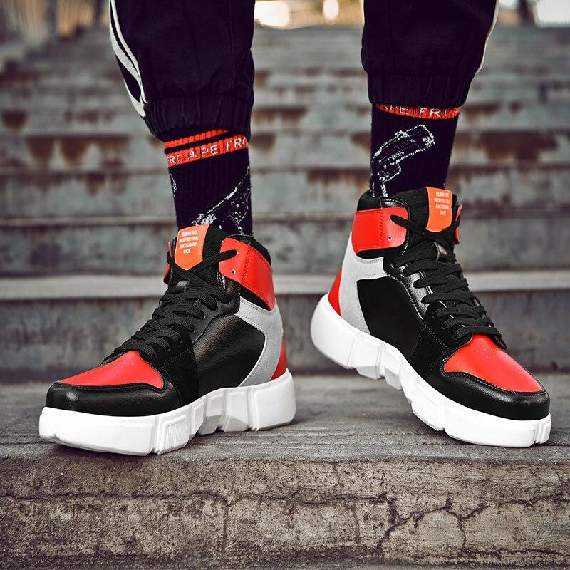SUROM Демисезонный Для мужчин Спортивная обувь на шнуровке удобные из искусственной кожи высокого качества обувь для ходьбы Модная обувь с вы...