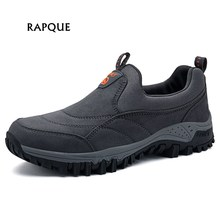 Male Walking shoes leather men Outdoor Athletic Shoes non-slip rubber Mens Sneakers Soft Mans footwear dad shoes big size 38-46
