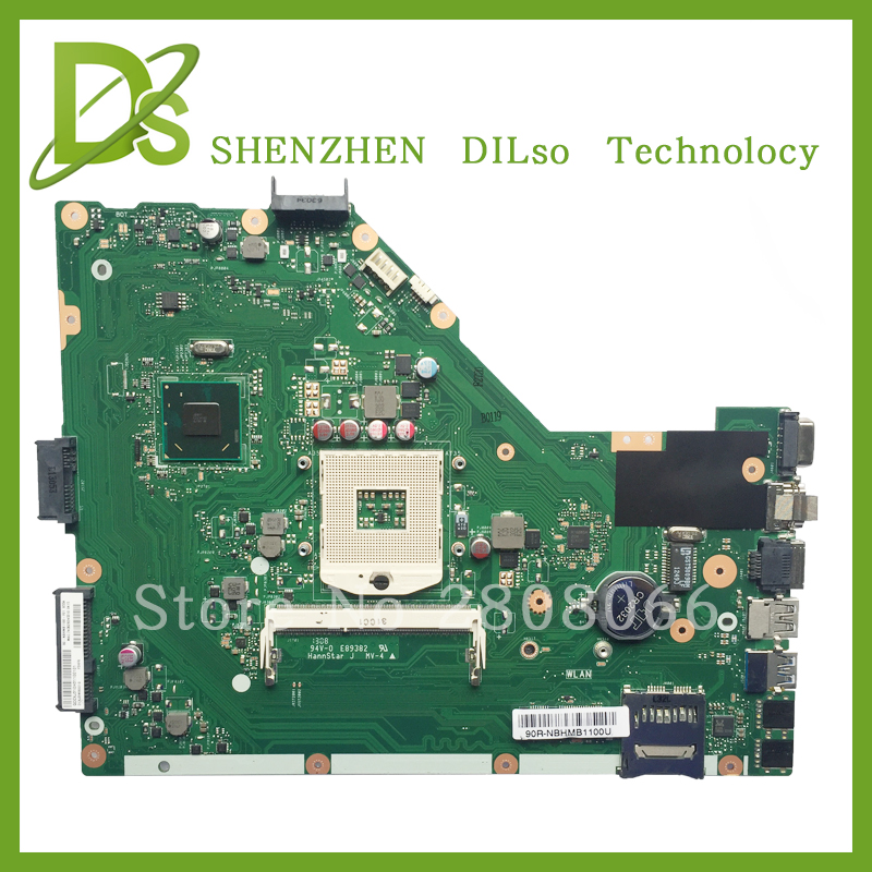 KEFU X55A For ASUS X55A Laptop motherboard ASUS X55A mainboard REV 2.2/REV2.1 Integrated SJTNV 100% tested new motherboard ipc motherboard sbc81206 rev a3 rc 100