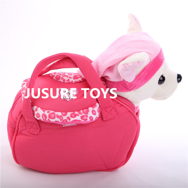 New Electronic Pets Robot Dog Der Chi Chi Love Zipper Singing Walking with bag Interactive Toy