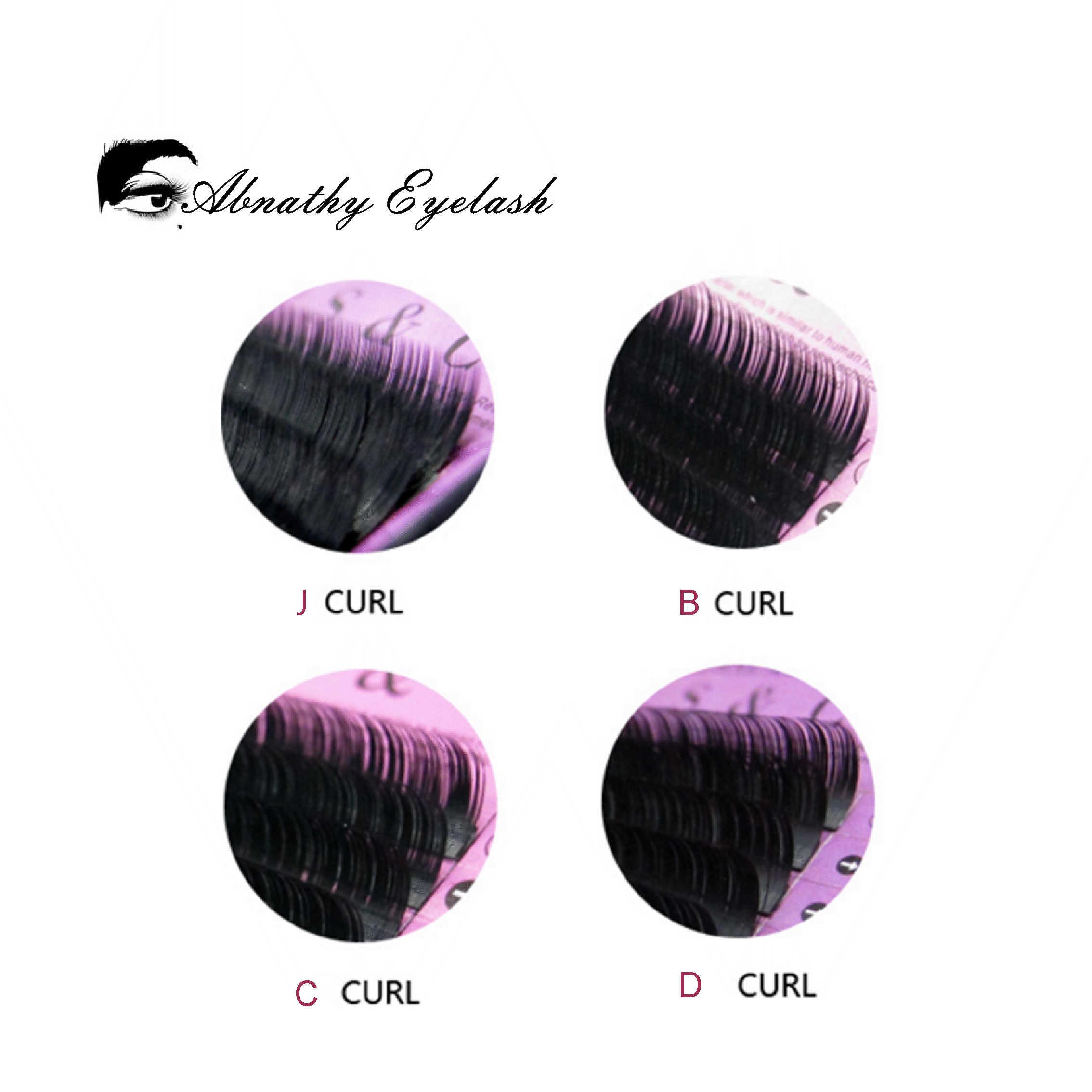 Все Размеры J B C D Curl 4 шт./лот Abnathy ресницы расширения Ciglia Finte отдельных искусственной Фольшая ресницы расширение