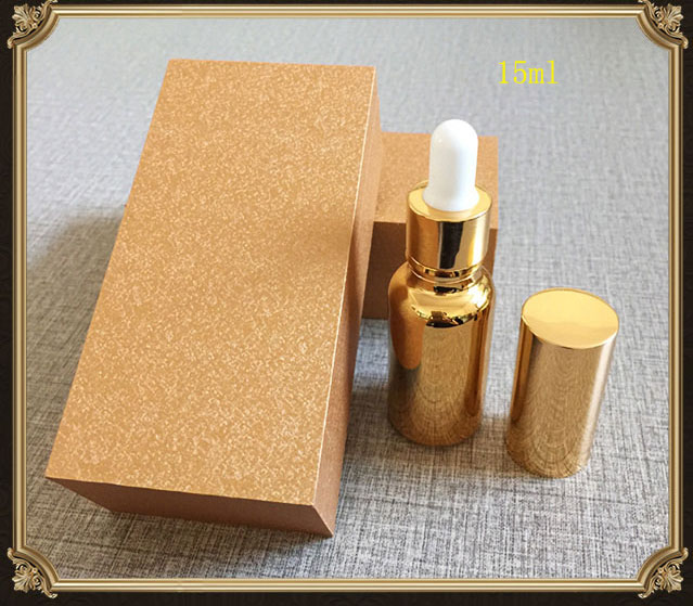 15ml/20ml High-grade gold/silver dropper bottle ,Empty capsule bottle  ,Packing bottle with wooden box. free shipping 4pcs/lot free shipping 5 10 15 20ml 10pcs lot glass green essential oil bottle with dropper packing dilution bottle