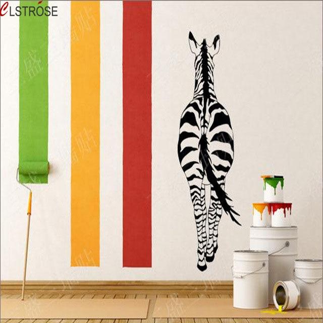 Clstrose vinilos cebra adhesivos de pared animales for Adhesivos pared dormitorio