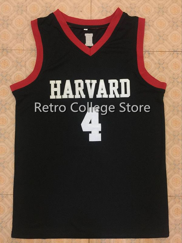 Harvard University #4 Jeremy Lin mens Retro throwback stitched embroidery basketball jersey Customize any number and name fashion jeremy lin style in jesus name i play silicone energy bands bracelet white