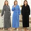 On Sale Lovers Extra Long Soft Bath Robe Women Winter Warm Thick Kimono Bathrobe Dressing Gown