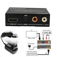 1080 p 4 k x 2 k hdmi do hdmi + audio extractor repeater hdmi do 5.1 cyfrowe spdif audio Converter Pomoc EDID/ARC z Bezpłatnym moc