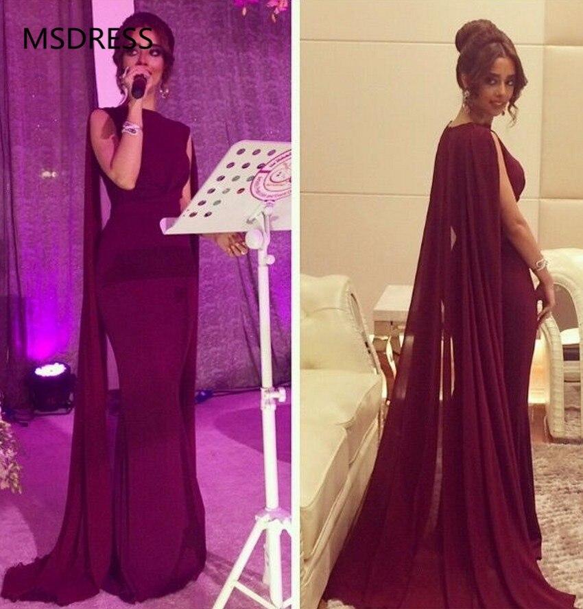 Robe de soirée 2019 Sexy en mousseline de soie longue sirène robes de soirée Cape femmes formelle robes de soirée longue abendkleider