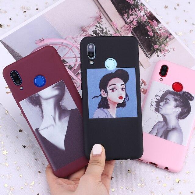Para Xiaomi mi rojo mi nota 5 5 5 6 6 7 8 9 lite Pro Plus chica Harajuku moda Cool dulces de silicona funda de teléfono cubierta Capa Fundas Coque