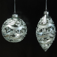 Diameter=6cm 8cm 10cm 12cm 15cm 20cm Big PackingSilver Glass Globe Christmas Day Glass Ball Different Sizes Shapes for selecting