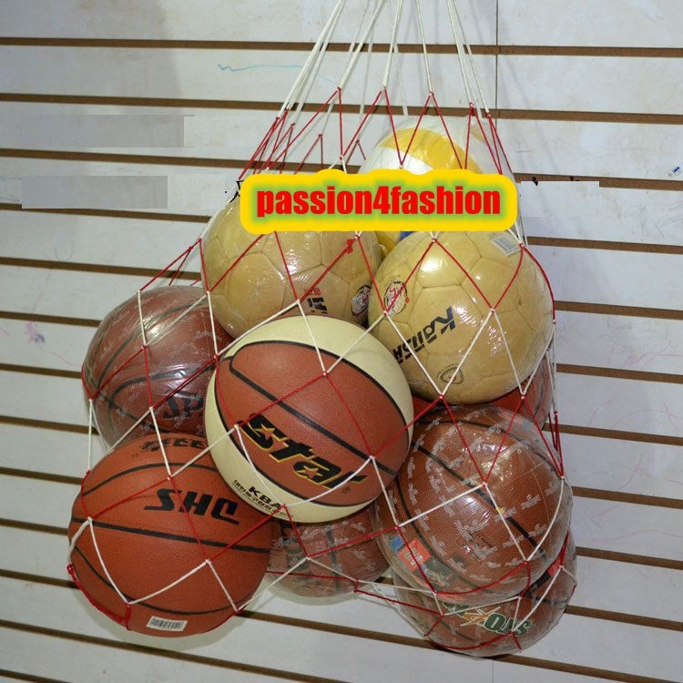 1 StÜck Basketball Fußball Große Mesh Tasche Säcke Tragen Netzbeutel Fußball Volleyball Ziel Ball Ausbildung