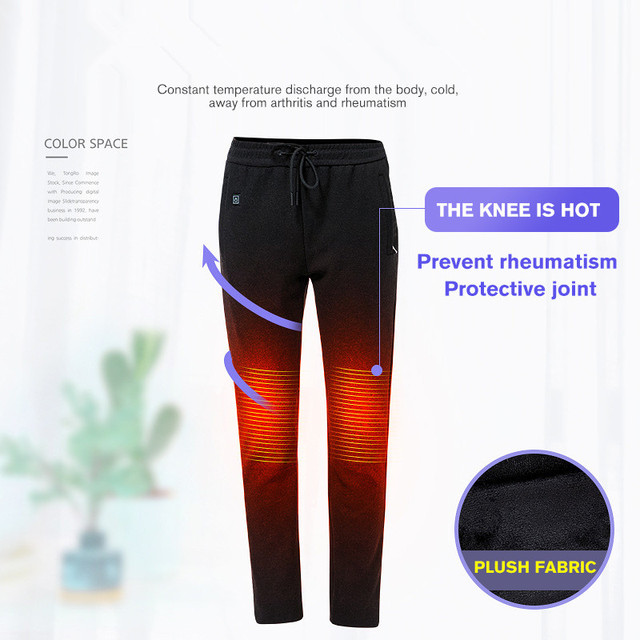 2019 USB Heated Pants Women Heating Pants Sports Outdoor Hiking Skiing Winter Smart Fever Cotton Trousers Climbing 2