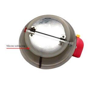 Image 2 - 80/100/125/150/200 millimetri in acciaio inox elettrico serranda condotto di aria valvola HVAC canalizzazione dellaria motorizzato serranda aria AC220V di ventilazione