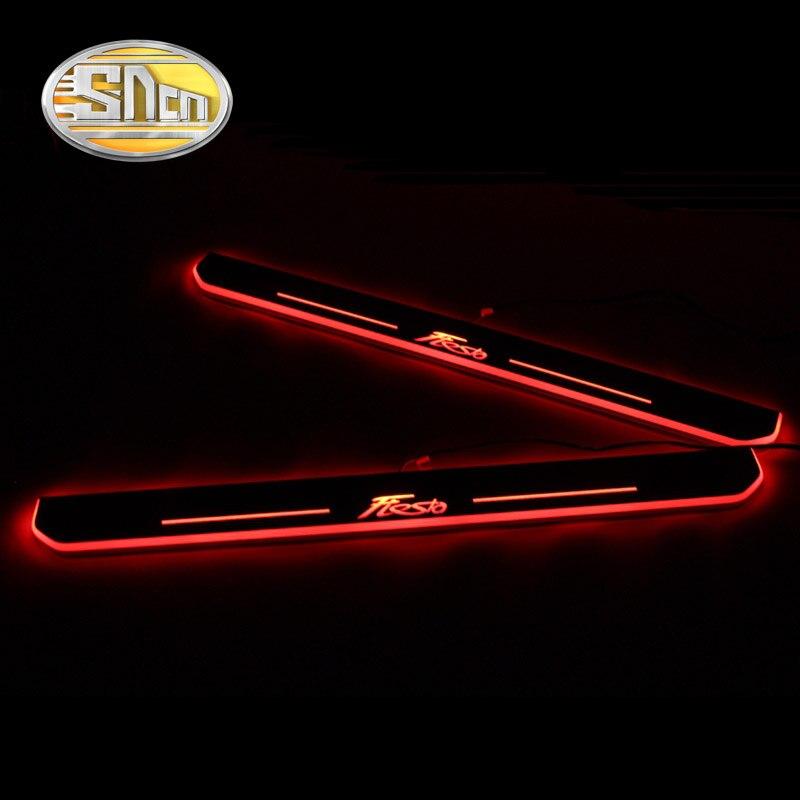 SNCN 防水アクリル移動 LED 歓迎ペダルドア敷居経路ライトフォードフィエスタ 2013 2014 2015  グループ上の 自動車 &バイク からの 装飾ランプ の中 1