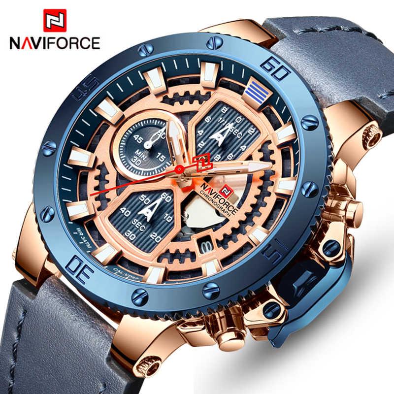 06ba114ef NAVIFORCE Top Men Watches Luxury Brand Men's Quartz Hour Analog LED Sports  Watch Men Army Military