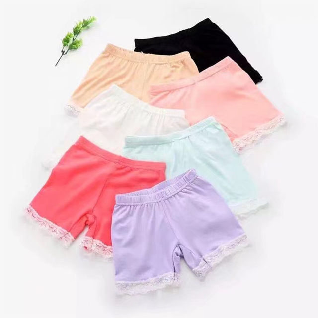 4fb9fa738ef 2019 Cartwheel Safety Short Pants Underwear Leggings Girls Lace Shorts  Little Pants for Children Age 4 5 6 7 8 9 10 Years Old