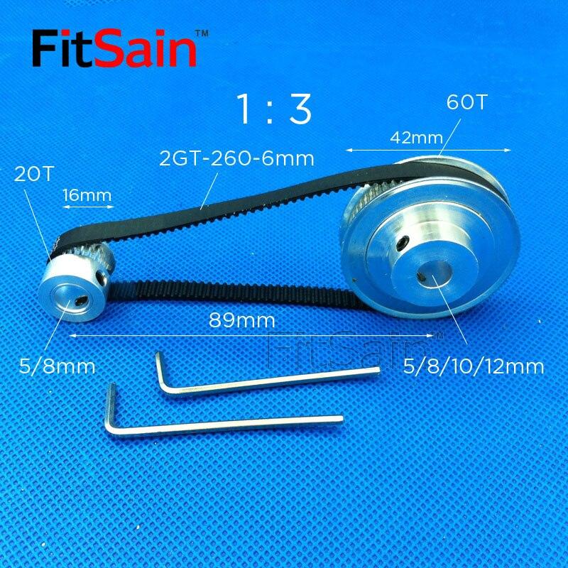FitSain 2GT 20 T: 60T Ширина 1:3 6 мм коэффициент уменьшения шкива из алюминиевого сплава привод синхронный Центр колеса отверстие 5/6/6. 35/8/10/12 мм|Шкивы|   | АлиЭкспресс - Комплектующие к CNC/3D Print (ЧПУ и 3D принтеры)