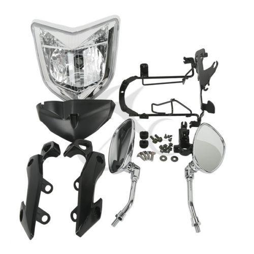 Motorcycle Headlamp HEADLIGHT SET HEAD LIGHT ASSEMBLY FOR 2007-2008  YAMAHA FZ1N 2006-2009 Bike