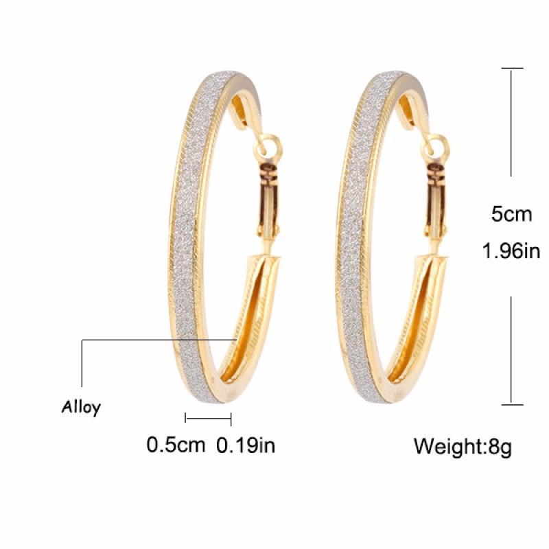QianBei Fashion Round Earings Ear Studs Jewelry Charm Earrings Frosted Big Ear Rings Design Women