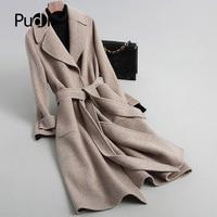 PUDI A88317 Real wool coat jacket overcoat women's winter warm coat 2018 fall winter coat
