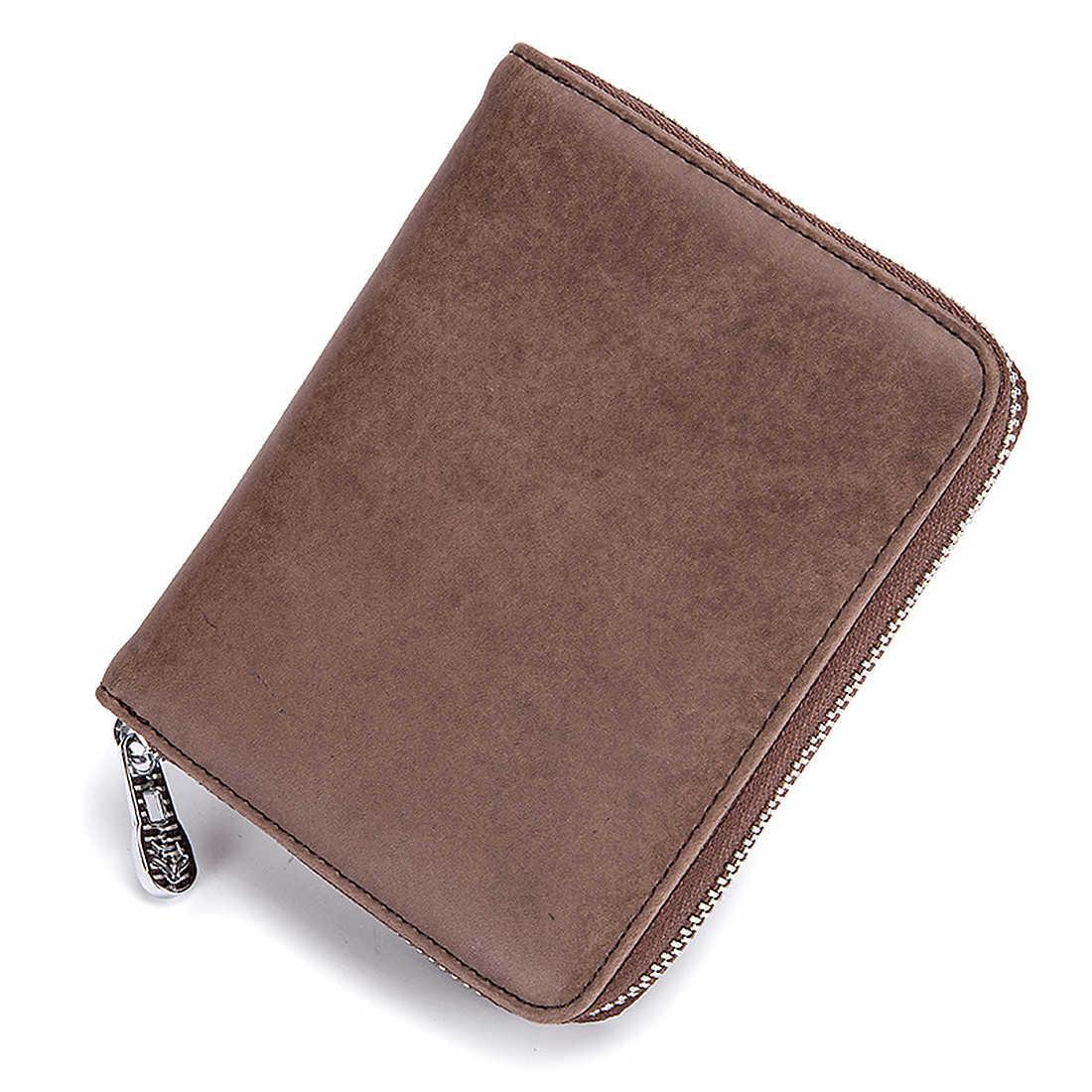 0f07e1f20b70 ... Аккордеон пояса из натуральной кожи кредитные карты Holer для мужчин  женщин Multi Функция паспорт на молнии