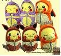 25 cm Pokemon Pikachu de la felpa Cosplay Charizard Saco de Dormir Bata Ekans Eevee peluches, niños Pikachu Regalo de Navidad de Cumpleaños