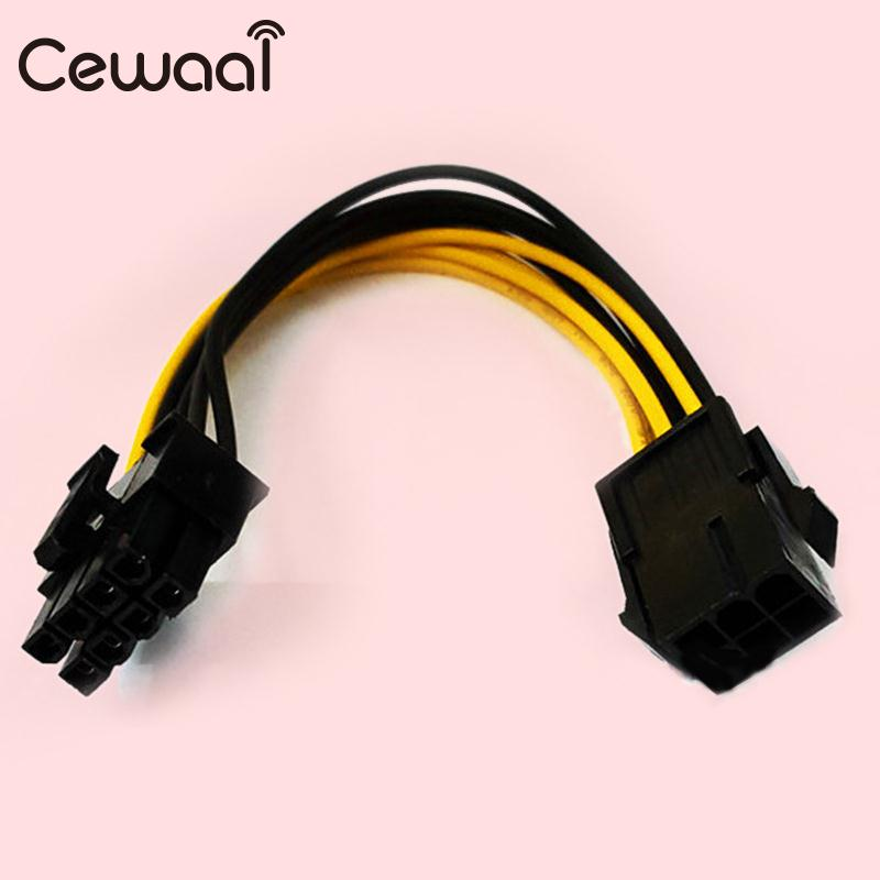 PCI 6Pin To 8Pin Graphics Card Power Adapter Cable Converter Replacement Parts