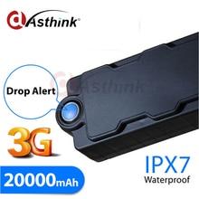 UMTS1900/850/2100/900 MHz 20000 mAh Batería Grande Imán de Mano A Prueba de agua 2G 3G WCDMA Perseguidor de Los GPS Para Todos Los Países En El Mundo