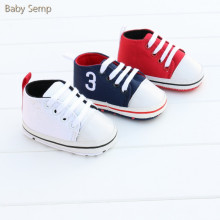 baby boys girls sport schoenen 2017 new fashion canvas sneakers white red blue color prewalker soft sole newborn polo shoes