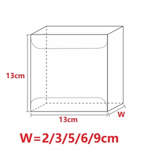 Image 4 - 13*13*Hcm Clear Square Wedding Favor Gift Box PVC Transparent Party Candy Bags Chocolate Boxes Packaging Cake Soap Display Box