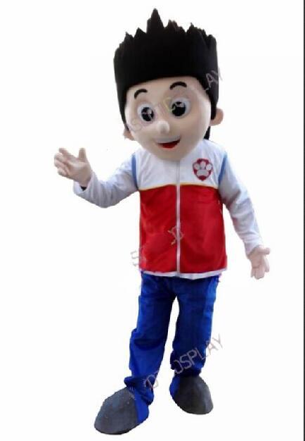Chien mascotte costumes rapide faire de haute qualité EVA tête casque chien mascotte Costumes pompier costumes
