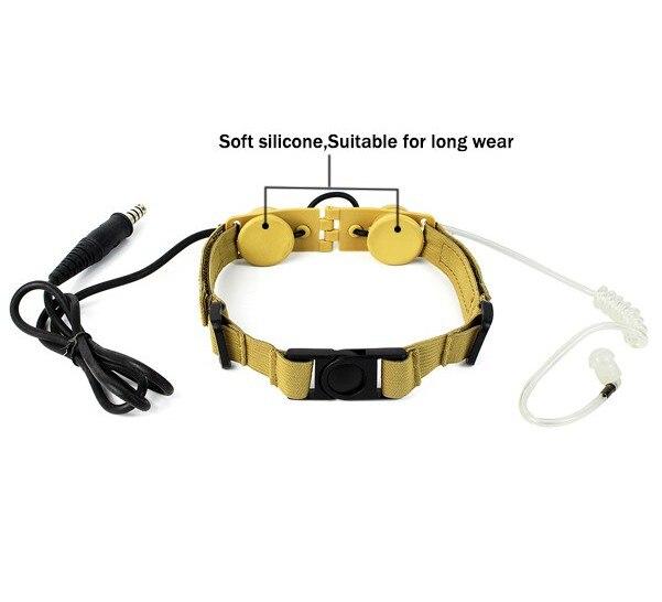 ЗС з тактический горло микрофона Z003 гарнитура с водонепроницаемый PTT для Baofeng УФ-5R тыт че-UV8000D радио Черный