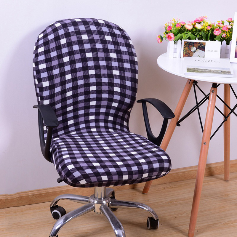 Office Computer Chair Cover Spandex Stretch Swivel Rotate Seat Antimacassar ...