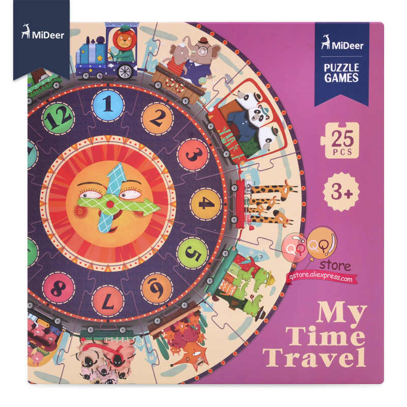 Mideer Il Mio Tempo di Viaggio Di Puzzle Del Bambino Apprendimento Precoce Giocattoli Educativi per I Bambini I Bambini Regalo Di Compleanno