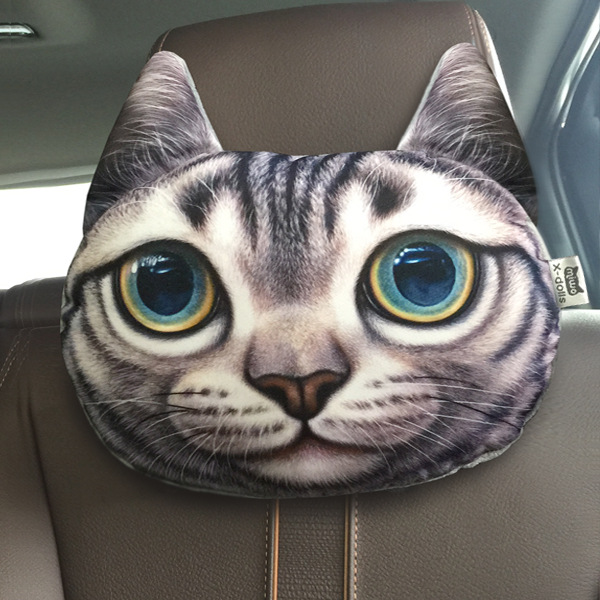 Cartoon Pillows Smiley Face Pillow Car headrest Decorative Cushions for Sofa 3D Emoji Creative Cat Cute seat chair cushion