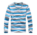 IMC New arrival 2016 men's long-sleeved cotton stripes sweater fashion and hot pullover men brand new of free shipping