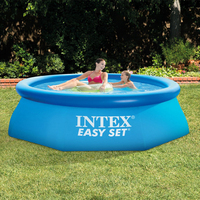 244*76CM Blue AGP Above Ground Swimming Pool Family Pool Inflatable Pool For Adults Kids Childen Aqua Summer Water 2018